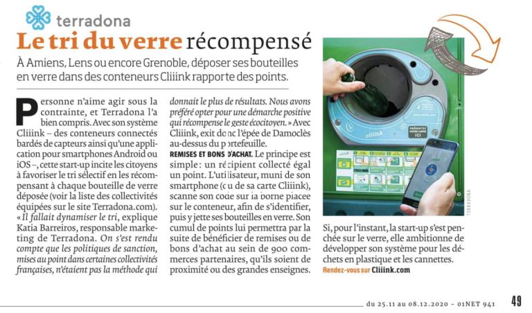 01net magazine : Le tri récompensé !